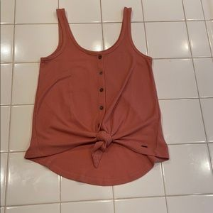 Hollister buttoned down tank top with front tie